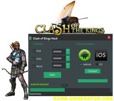Clash of Kings Hack Tool  If you are looking for a safe and working hack Clash of Kings you're in the right place! This Hack is an effective tool that will generate Gold, Food and Wood.