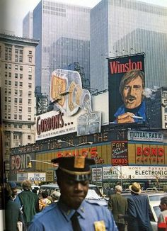 1970 new york it was dirty then and look at the billboards. It definitely has changed for the better.