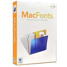 Macware MacFonts Software for Mac OS X