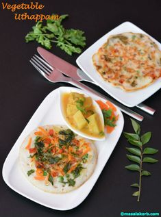 Vegetable Uthappam is a thick & spongy dosa variation prepared with Idli…