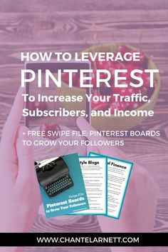 Want to make money from your blog but don't have a million hours to spend trying to get traffic? Learn how to use Pinterest to grow your business!