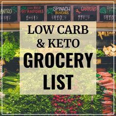 Here's a comprehensive keto diet foods list that you can use for grocery shopping (includes a printable PDF version). These foods are safe to eat on a low carb or keto diet.