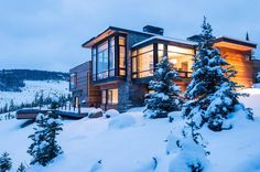 Modern Montana Mountain Home by Pearson Design Group, Interior by Ann Knight Interiors