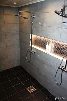 60 Shower Heads Ideas You Will Love - Enjoy Your Time 28 Bathroom Lighting Ideas to Brighten Your Style Bathroom Renos, Bathroom Renovations, Small Bathroom, Master Bathroom, Bathroom Storage, Bathroom Ideas, Bathroom Hacks, Modern Bathrooms, Shower Lighting