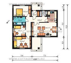 Поэтажные планы проект дома 56-69 общ. площадь 101,2м2