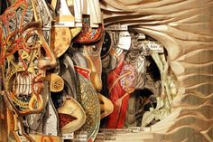 Brian Dettmer carves old books into incredible sculptures, one page at a time.