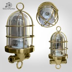 For Sale - Roof hung Marine Light (Clear / Transparent); A great vintage roof hung, ship's passageway light. The glass globe is in great condition. It can be easily wired for indoor use as well as outdoors. The base is made of heavy cast brass. Also comes in two other colors: Red and Blue. Can serve as party decoration and good for home use. Rate: $150