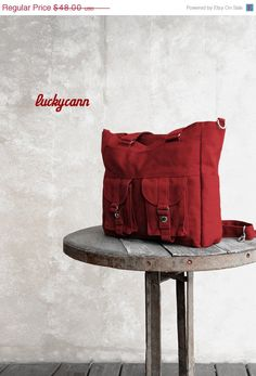 Summer Sale 20 off BAILEY // Dark Red // 023 // by luckycann, $38.40