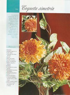 Todo Flores de Porcelana Fria: Flores Porcelana Fria: Dalias Paso a Paso 01