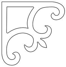 Stencil Patterns, Stencil Designs, Tile Patterns, Hobbies And Crafts, Diy And Crafts, Paper Crafts, Gable Decorations, House Decorations, Decorative Corbels