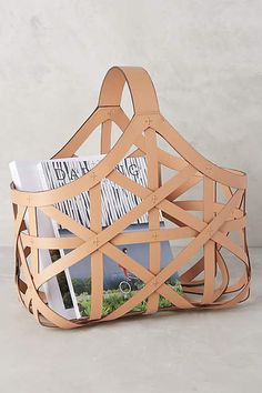 Leather Panier Collection - anthropologie.com