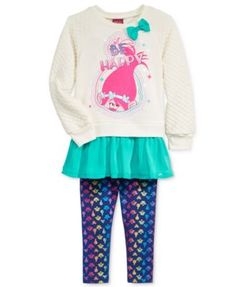 4bacd70e0 Trolls by DreamWorks 2-Pc. Layered-Look Top & Leggings Set, Toddler Girls  (2T-4T) & Little Girls (2-6X) & Reviews - Sets & Outfits - Kids - Macy's