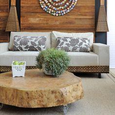 Mesa tronco madeira
