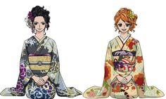Robin & Nami Anime D, Anime Comics, Anime Art Girl, One Piece Chapter, Zoro Nami, One Piece World, 0ne Piece, Nico Robin, One Piece Anime