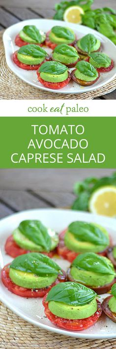 Heirloom Tomato Avocado Caprese Salad | Cook Eat Paleo