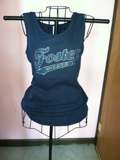 Go Foster Oilers!    Trendy Team Spirit Rhinestone Tank!  Cheer on your kids in style :).  Contact Toni:  tonisjewelryboutique@yahoo.com for more details