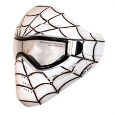 Save Phace Tagged Series Paintball Mask Spiderman - Spidey White. Available at UltimatePaintball.com
