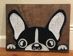tableau en fils tendus chien bouledogue francais