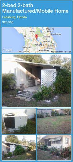 2-bed 2-bath Manufactured/Mobile Home in Leesburg, Florida ►$23,500 #PropertyForSaleFlorida http://florida-magic.com/properties/68188-manufactured-mobile-home-for-sale-in-leesburg-florida-with-2-bedroom-2-bathroom