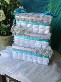 Wedding card box by Thatssolovely on Etsy, $85.00