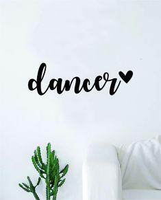 Dancer Heart Quote Wall Decal Sticker Decor Vinyl Art Bedroom Teen Girls Dance Dancing Music - black