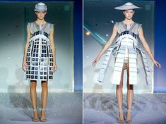 Hussein Chalayan: transformable dress (connected)