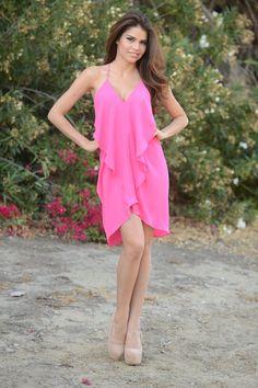 Sling Shot Dress (Fuschia) - $26.99 #Summer #FashionNova