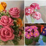 Sakallı ipe ile papatya yapımı birçok el işi sevenin merak ettiği bir modeldir. Papatya en renkli ve hoş çiçeklerden biri olarak örgüde de yerini almıştır.