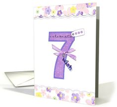 7th birthday card sold to customer in California, United States