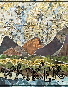 Jenn Lee, travel collage, art, world