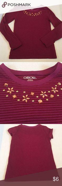 💜size 7/8 Cherokee shirt w/ bling Cherokee shirt.  Size 7/8.  long sleeve.  Gently pre owned. Cherokee Shirts & Tops Tees - Long Sleeve