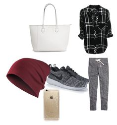 """Lazy days"" by noragd001 on Polyvore featuring Madewell, NIKE and Rifle Paper Co"