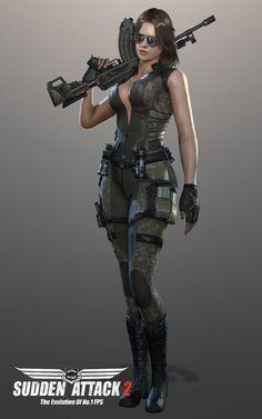 서든어택2, 신규 여성 캐릭터 2종 '스칼렛', '바이퍼' 공개 Cyberpunk Girl, Cyberpunk Character, Chica Fantasy, Fantasy Girl, Fantasy Female Warrior, Female Art, Leder Outfits, Tough Girl, Female Soldier
