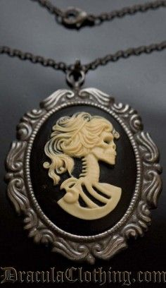 Skeleton Lady Necklace #necklace #pendant #skeleton #victorian #goth #gothic http://draculaclothing.com/index.php/skeleton-lady-necklace-p-934.html