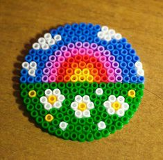 Easy Perler Bead Patterns, Melty Bead Patterns, Diy Perler Beads, Perler Bead Art, Pearler Beads, Fuse Beads, Beading Patterns, Hama Beads Coasters, Embroidery Patterns