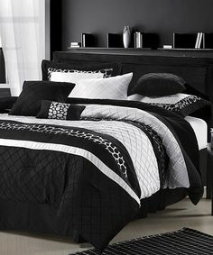 Take a look at this Black & White Savannah Comforter Set by Chic Home Design on #zulily today!