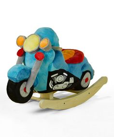 Look at this #zulilyfind! Lil' Biker Motorcycle Rocker by Rockabye #zulilyfinds