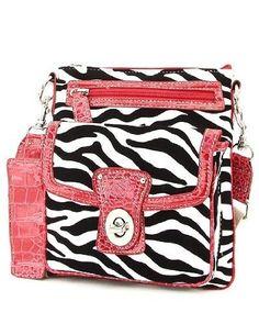 Zebra Print Cross Body Hipster Handbag (White & Red) - Designer inspired handbag,measurements:L 8.5 * H 9,Zip top closure,Silver-tone hardware,Faux leather #ClickPinForInformation Sale Price: $28.00 [ http://www.phashionique.com/zebra-print-cross-body-hipster-handbag-white-red/ ]