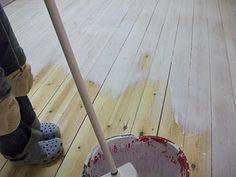 Scandinavian pine board flooring (white wash)