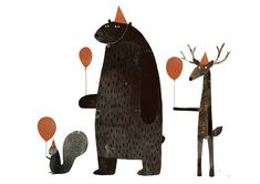Jon Klassen #animals #party #illustration