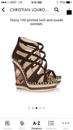 A gorgeous  and perfect for summer wedge! Best of all it's 60% off retail Outnet.com