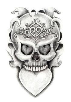heart and skull tattoos Heart Tattoo On Finger, Finger Tattoos, Hand Tattoos, Lace Skull Tattoo, Skull Tattoos, Octopus Anchor Tattoos, Sugar Skull Art, Tattoo Blog, Royalty Free Photos