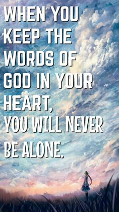 """Quote by Brother Eli Soriano 💕 """"When you keep the words of God in your heart, you will never be alone. Your Heart, Word Of God, Christian Quotes, Qoutes, Brother, Words, Quotations, Quotes, Christianity Quotes"""