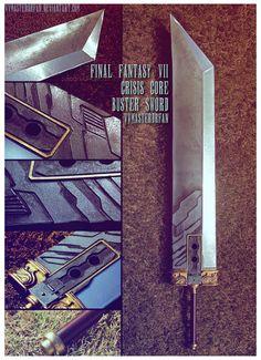 FFVII Crisis Core Buster Sword by vvmasterdrfan on @DeviantArt