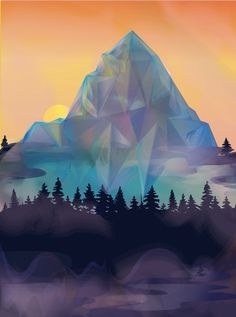 Crystal Mountain #2  Selena Dugan-Fields Crystal Mountain, Bat Signal, Superhero Logos, Selena, Fields, Crystals, Create, Art, Art Background