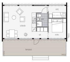 Glashus 50 - Log Cabin / Kontio