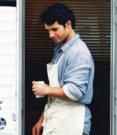 Sweet jesus...who gave this man an apron?! This is the end of me as I know it <3