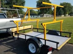 Kayak trailer | Korey Atterberry's Idle Chatter Jeep Camping Trailer, Kayak Trailer, Trailer Diy, Kayak Camping, Canoe And Kayak, Kayak Fishing, Outdoor Camping, Outdoor Gear, Camping Hammock