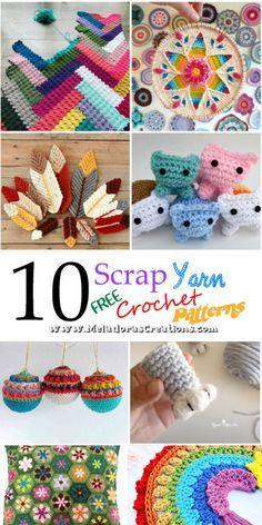 Scrap Yarn Crochet, Crochet Gifts, Cute Crochet, Quick Crochet, Crochet Wool, All Free Crochet, Crochet Things, Yarn Projects, Knitting Projects