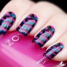 Zoya nail polish design art...